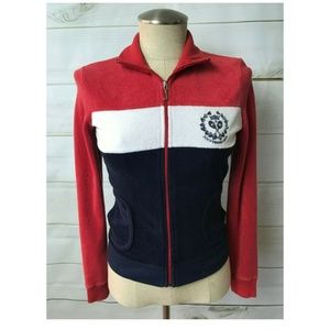 Juicy Couture Jackets & Coats - Juicy Couture Terry Red White Blue Jacket